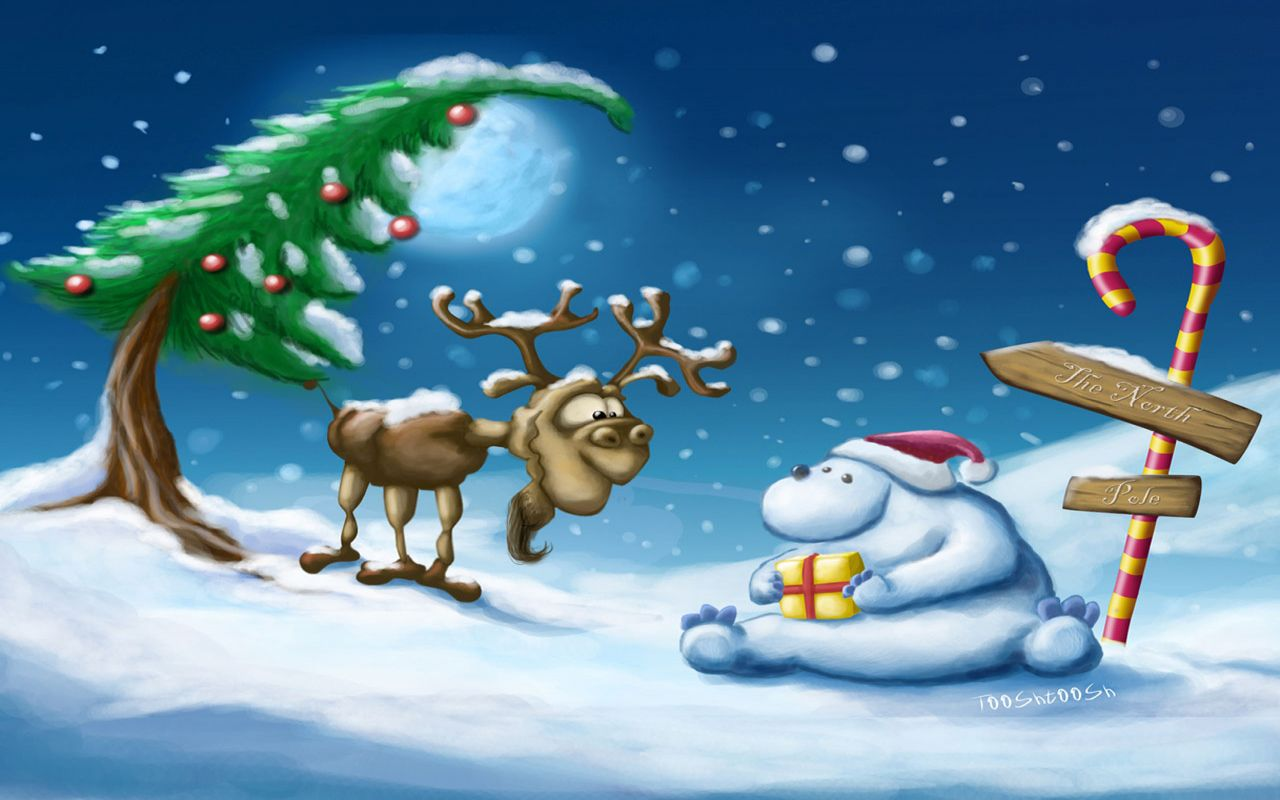 Cute Cartoon Christmas Wallpaper 10801 Hd Wallpapers in Celebrations 1280x800