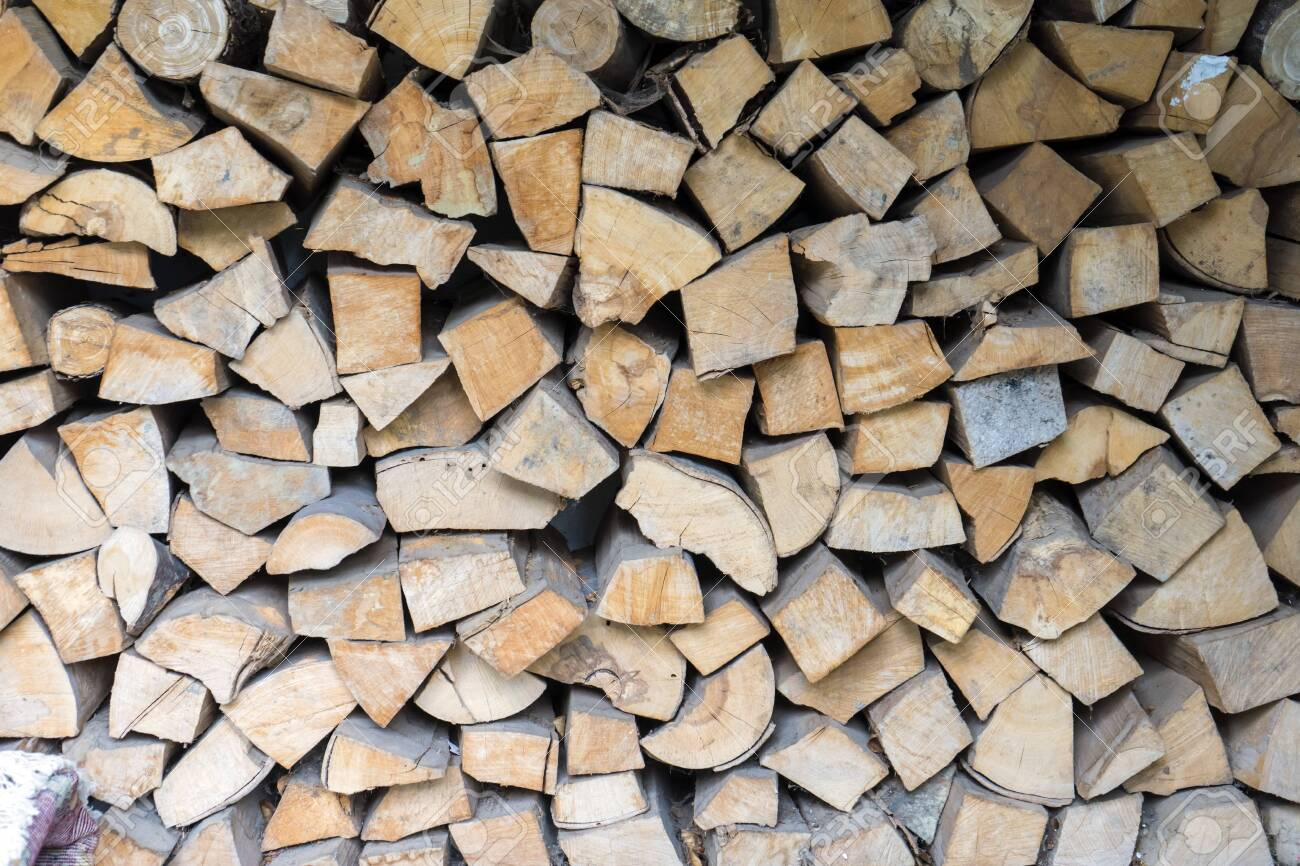 Wall Firewood Background Of Dry Chopped Firewood Logs In A Pile 1300x866