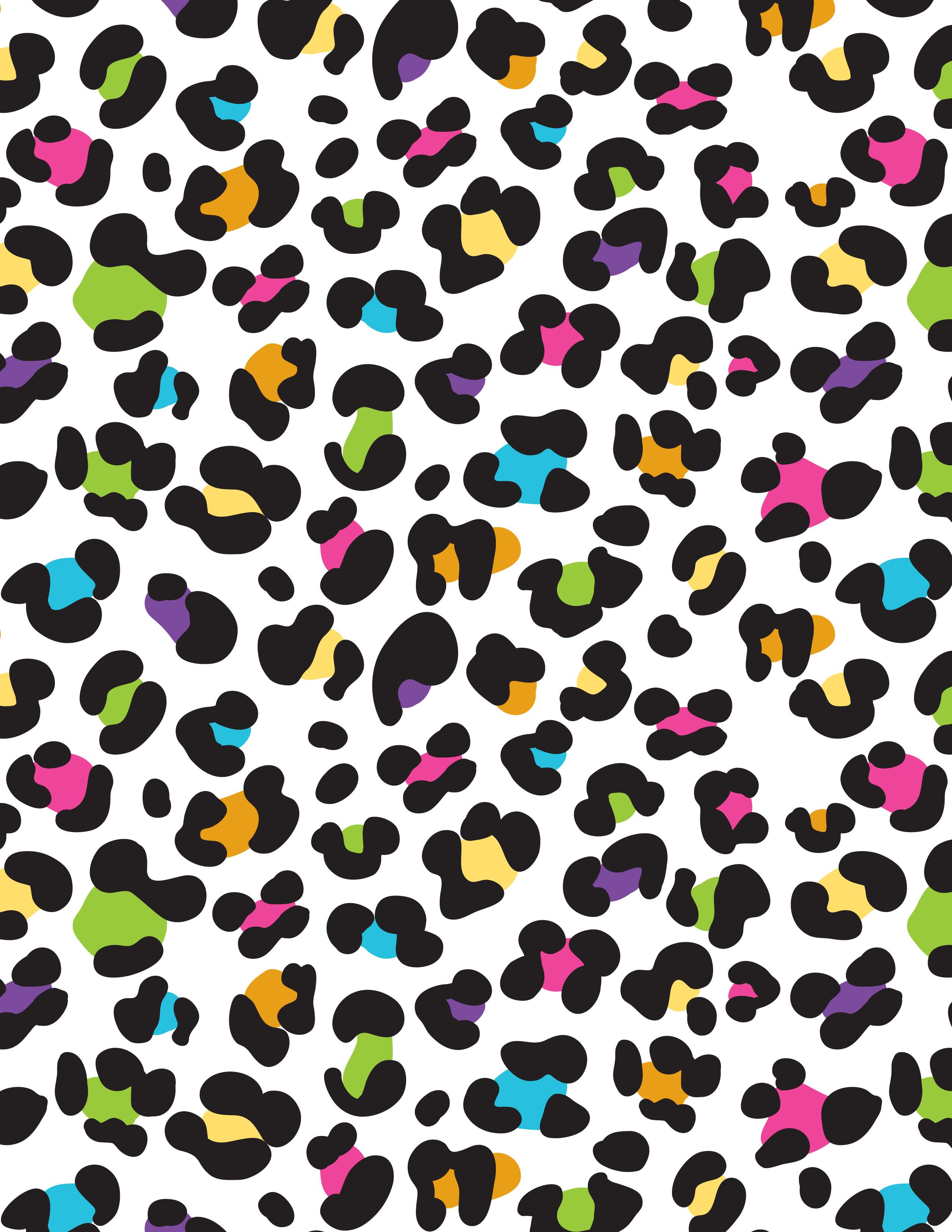 colorful rainbow lisa frank leopard cheetah background 2550x3300