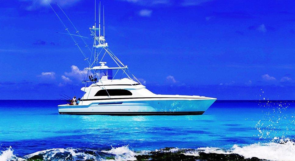 Lake fishing boat wallpaper