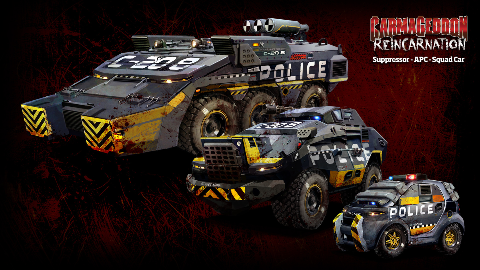 Carmageddon Reincarnation game police g wallpaper 1920x1080 1920x1080