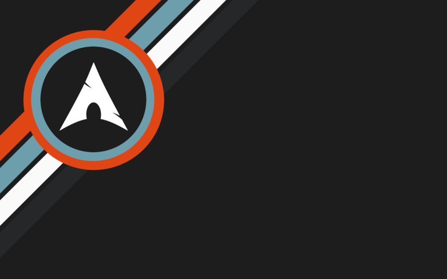 Arch Linux dark Grey with Orange Blue and White by CraazyT on 900x563