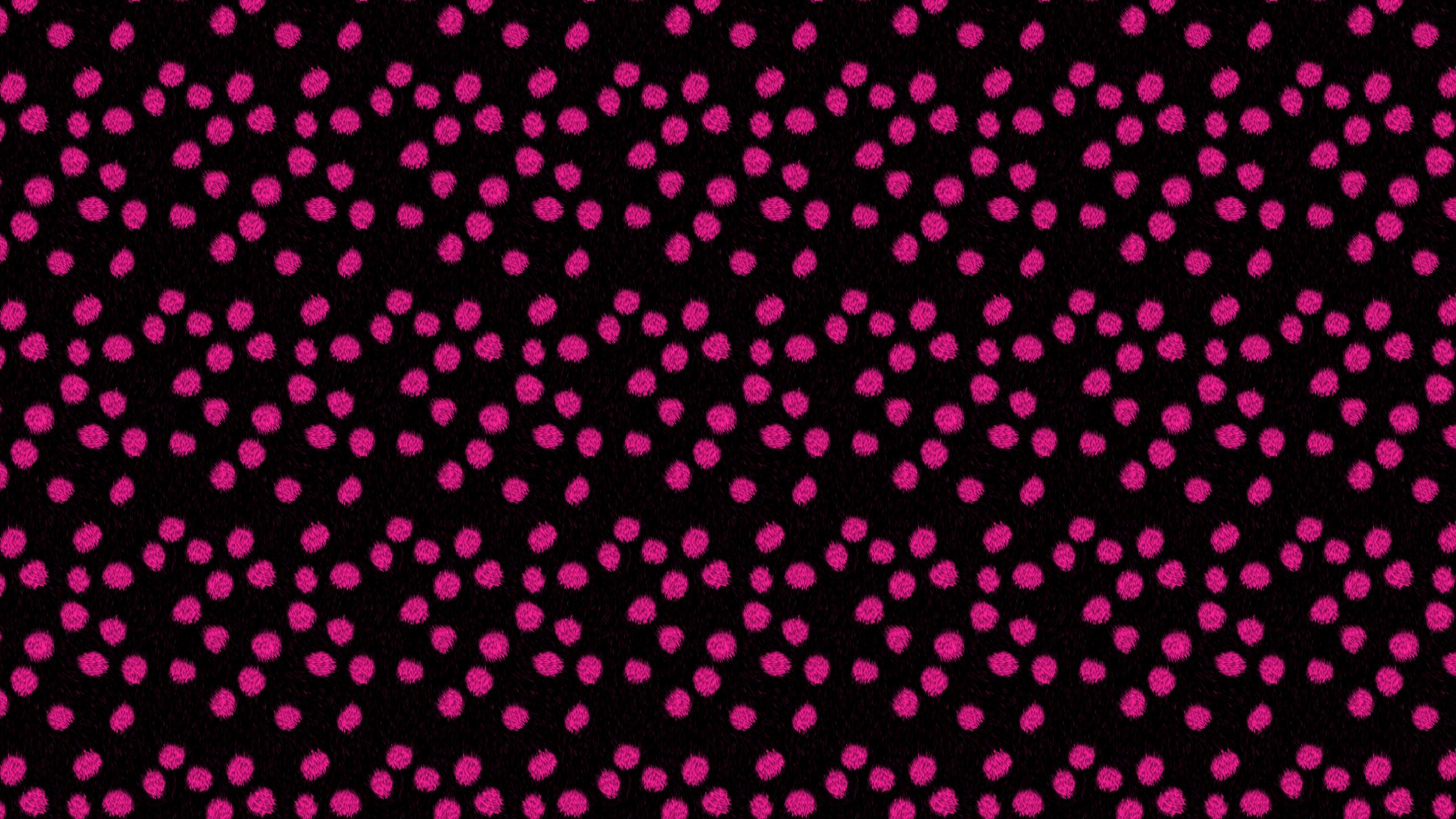 this Pink Polka Fur Desktop Wallpaper is easy Just save the wallpaper 2560x1440