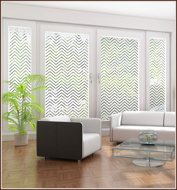 Film Features Frosted Chevrons and Clear Lines Wallpaper For Windows 600x643