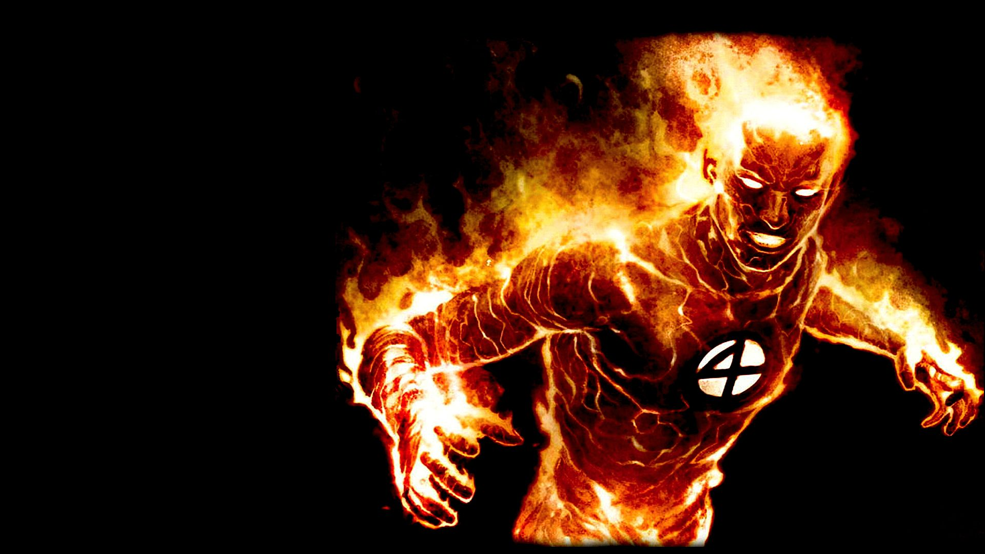 Human Torch Wallpaper 1920x1080