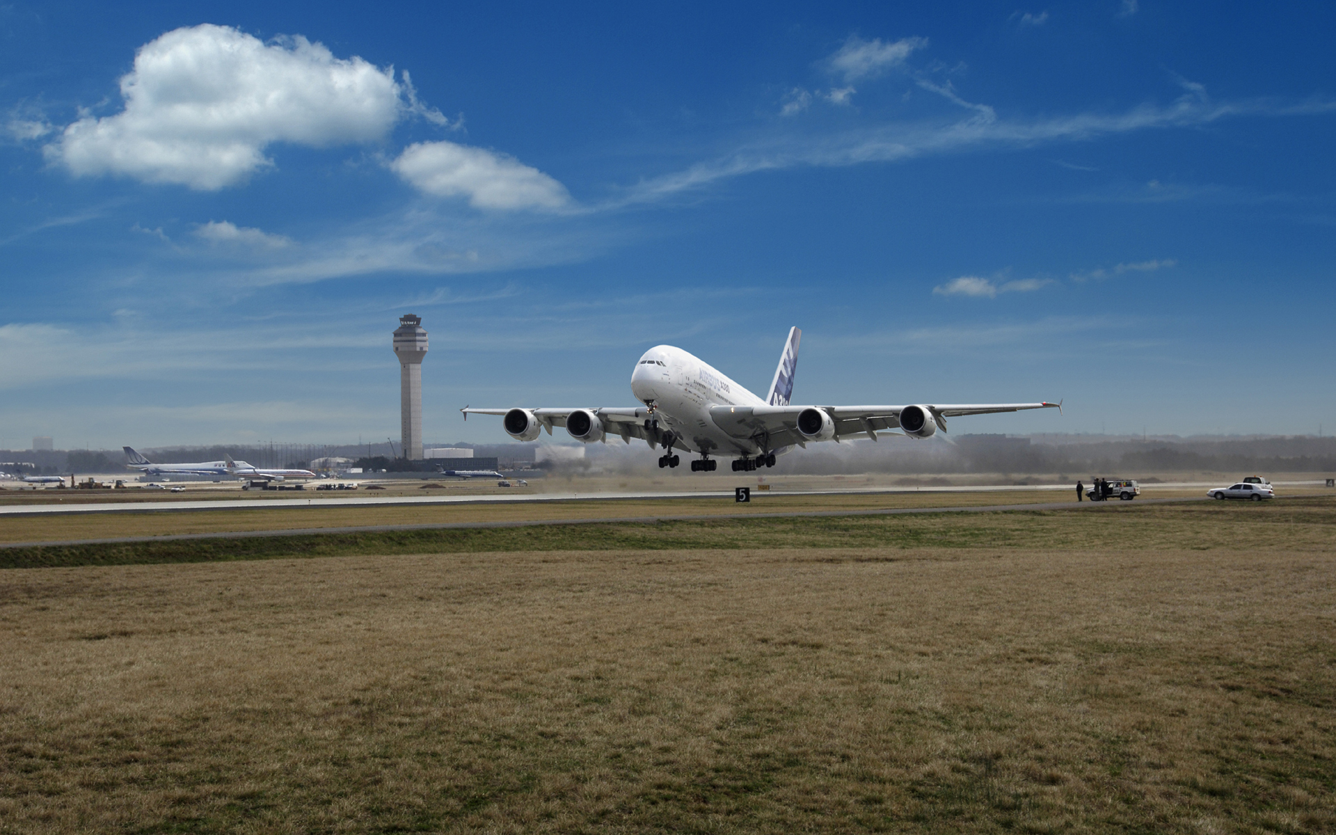 Wallpaper Aviatoin Airbus A380 Airfrance Take Off Wallpapers 1680x1050