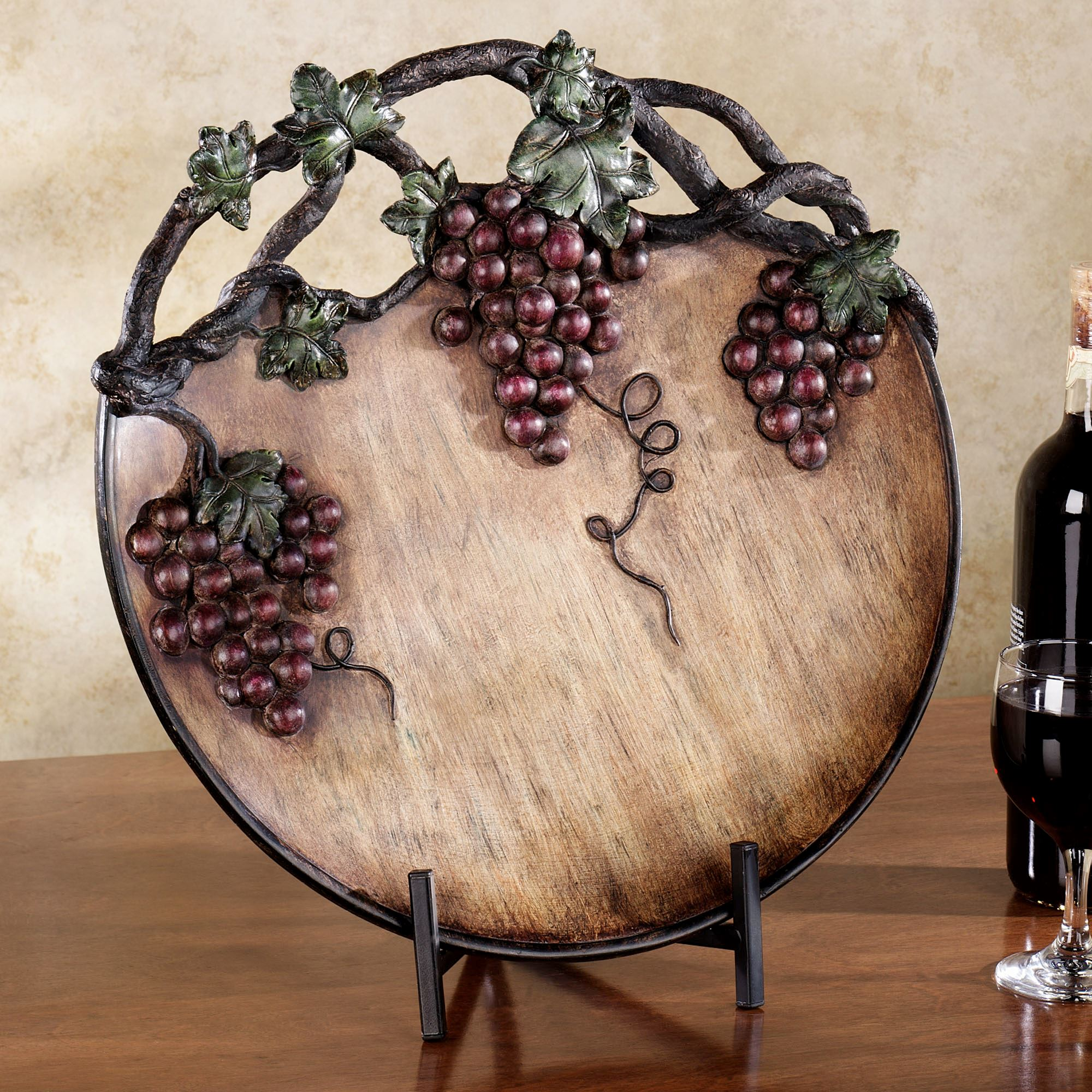 Free Download Home Grape Harvest Decorative Charger Plate With Stand 2000x2000 For Your Desktop Mobile Tablet Explore 45 Timeless Wallpaper Border Kitchen Grapes Borders