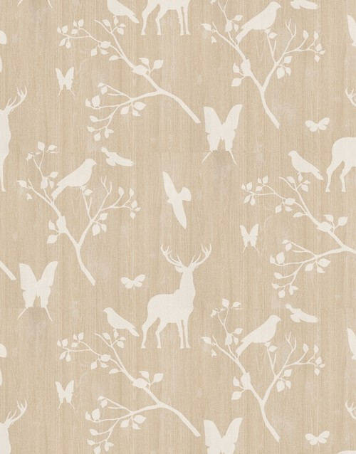 Does this lovely deer/bird/butterfly wallpaper come in another ...