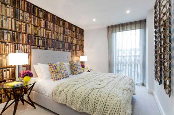Bedroom Wallpaper That Looks Like Books picture size 600x399 posted 600x399