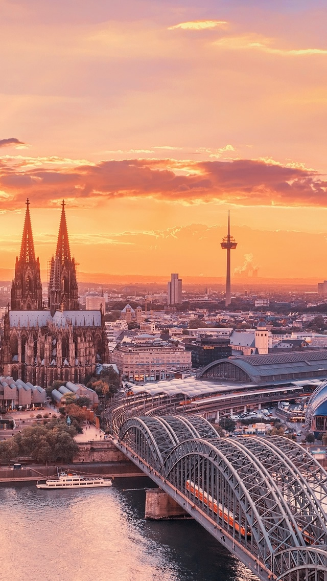Cologne City iPhone Wallpapers Download 640x1136