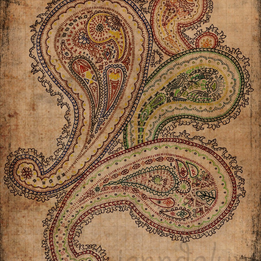 paisley art bohemian boho gypsy colorful wall art 900x900jpg 900x900