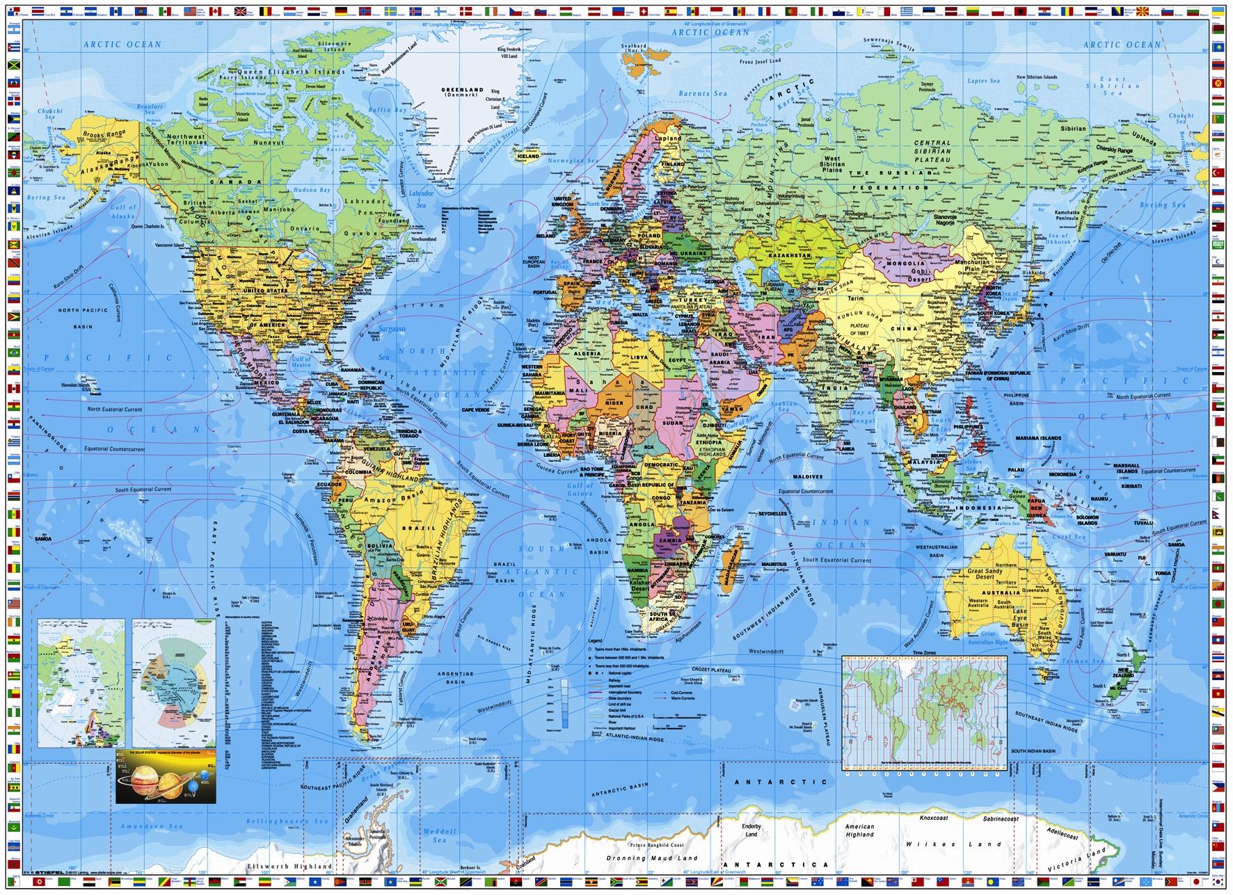 Map of the World Wallpaper  WallpaperSafari