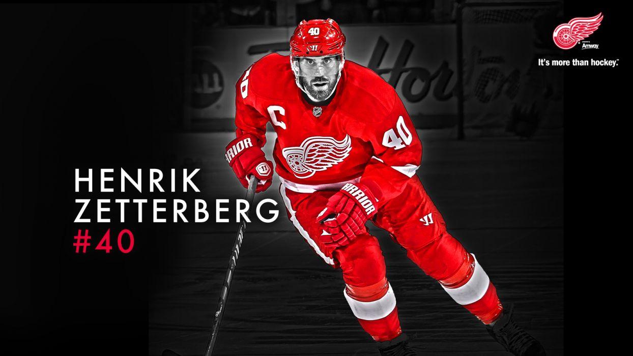 Hockey Henrik Zetterberg Detroit Red Wings wallpaper 1600x900 1244x700