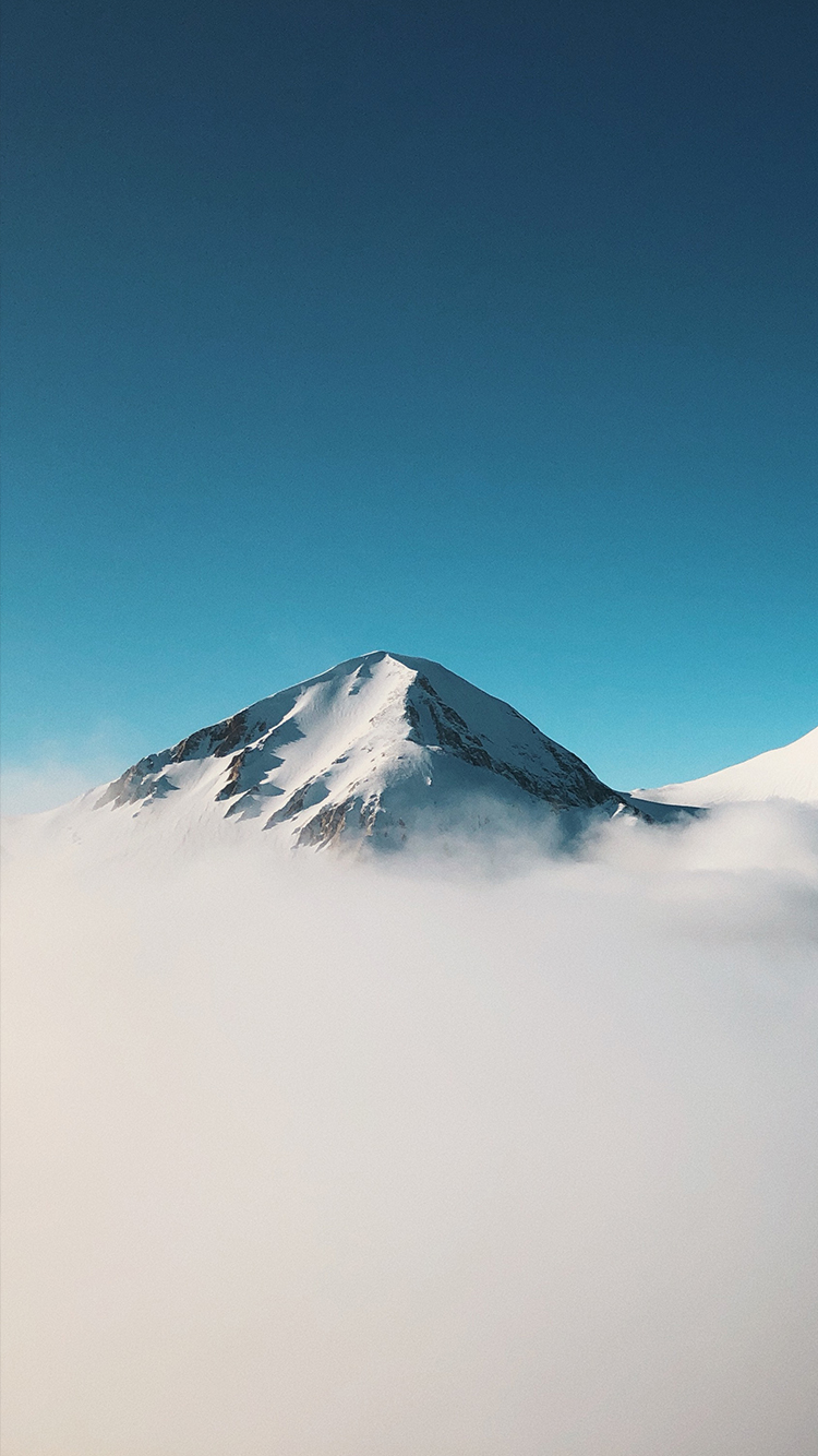 Minimalist Mountain Above Clouds iPhone Wallpaper 750x1334