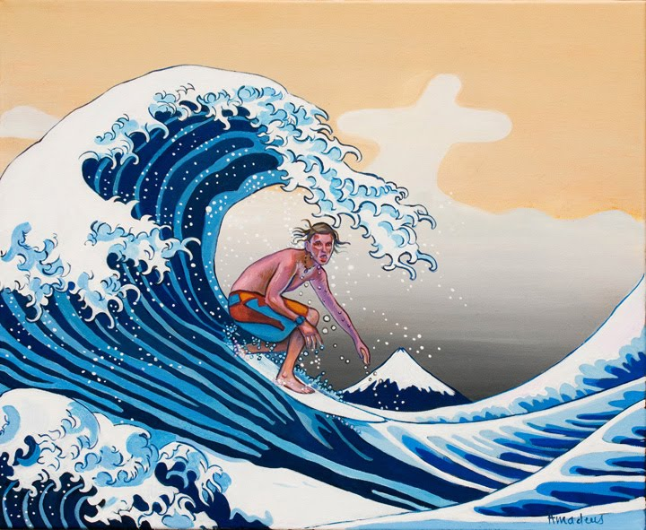 Japanese Waves Painting Images & Pictures - Becuo