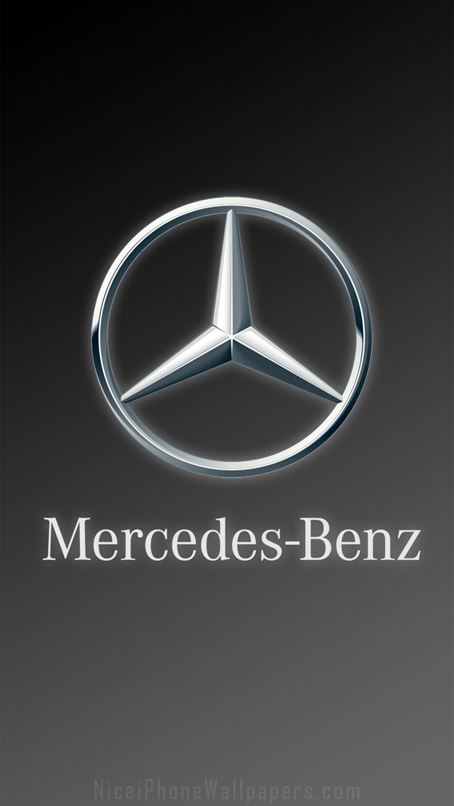 Mercedes Benz logo HD iPhone 5 wallpaper and background 640x1136