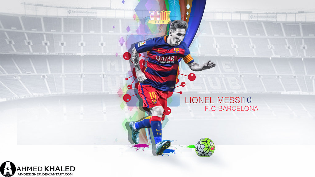 Lionel Messi Wallpaper 2016 by AK DESIGNER 1024x576