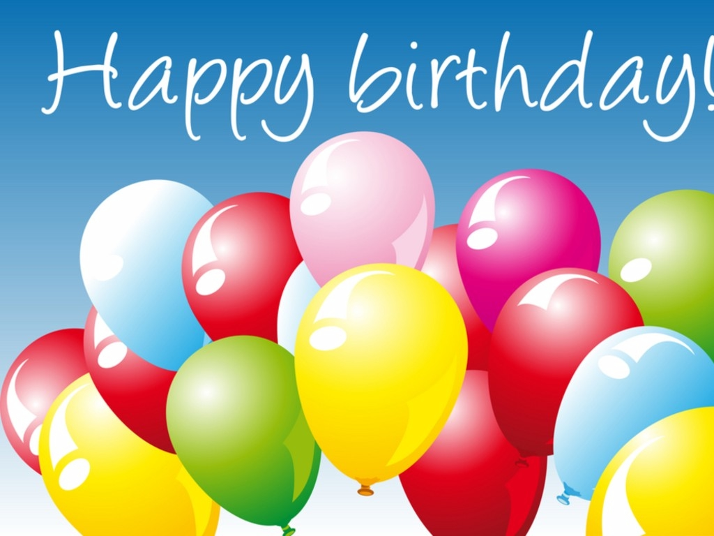 Happy Birthday balloons Wallpaper With Resolutions 1024768 Pixel 1024x768