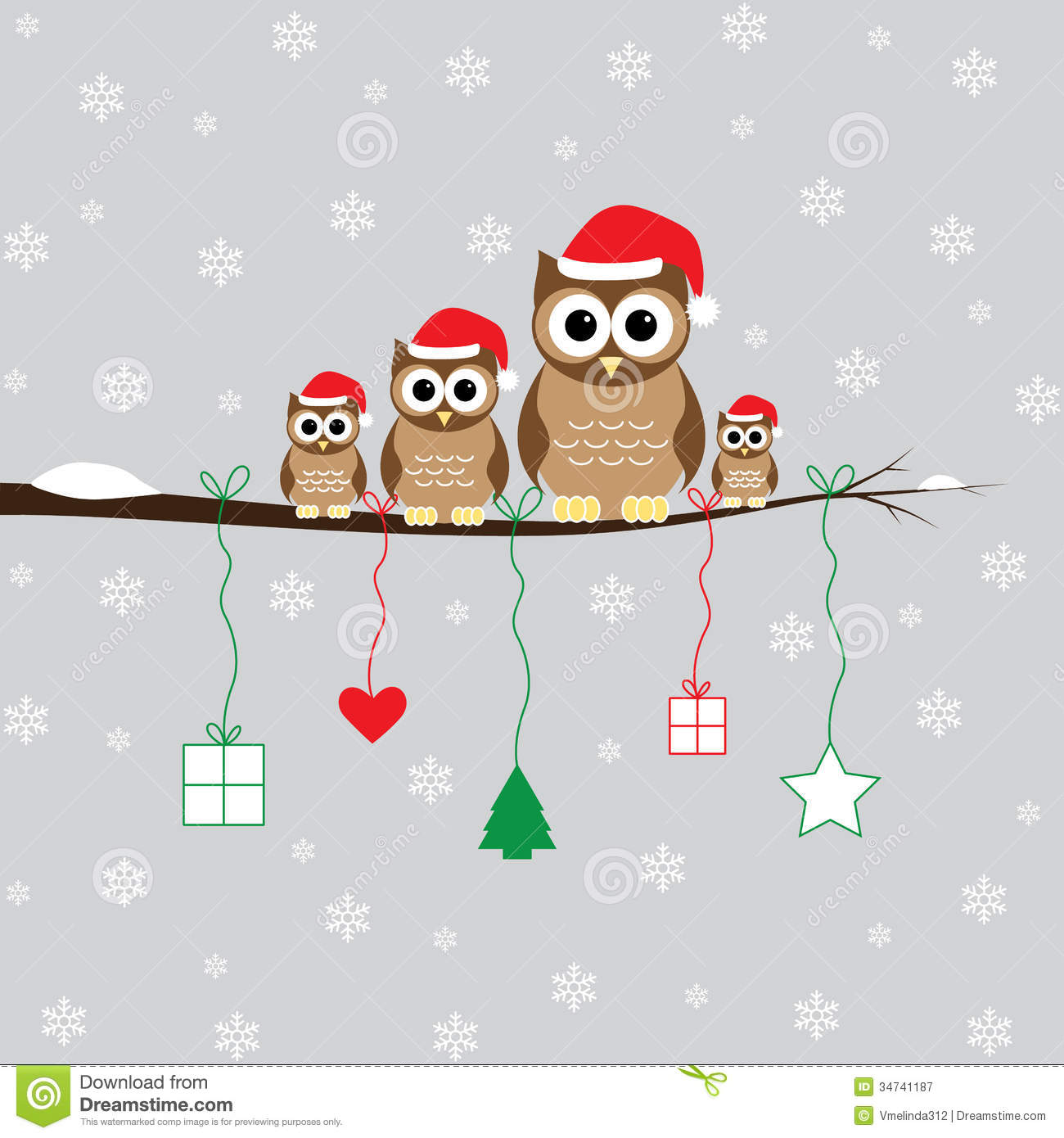 Free Owl Christmas Wallpaper - WallpaperSafari