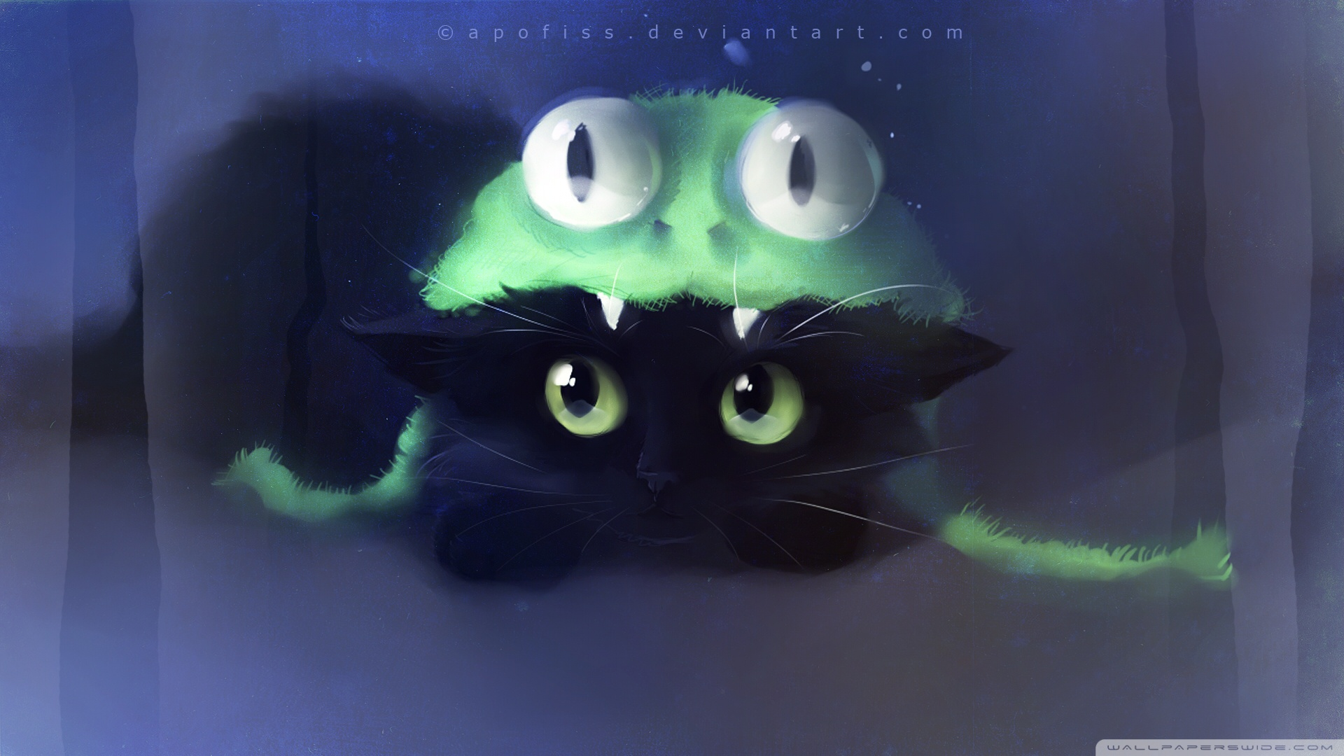 Frog Cat Painting Wallpaper 1920x1080 Frog Cat Painting 1920x1080