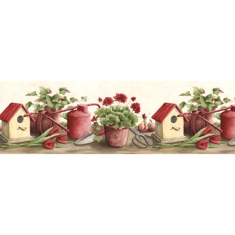 Norwall 9 12 Kitchen Style Gardening Prepasted Wallpaper Border 900x900