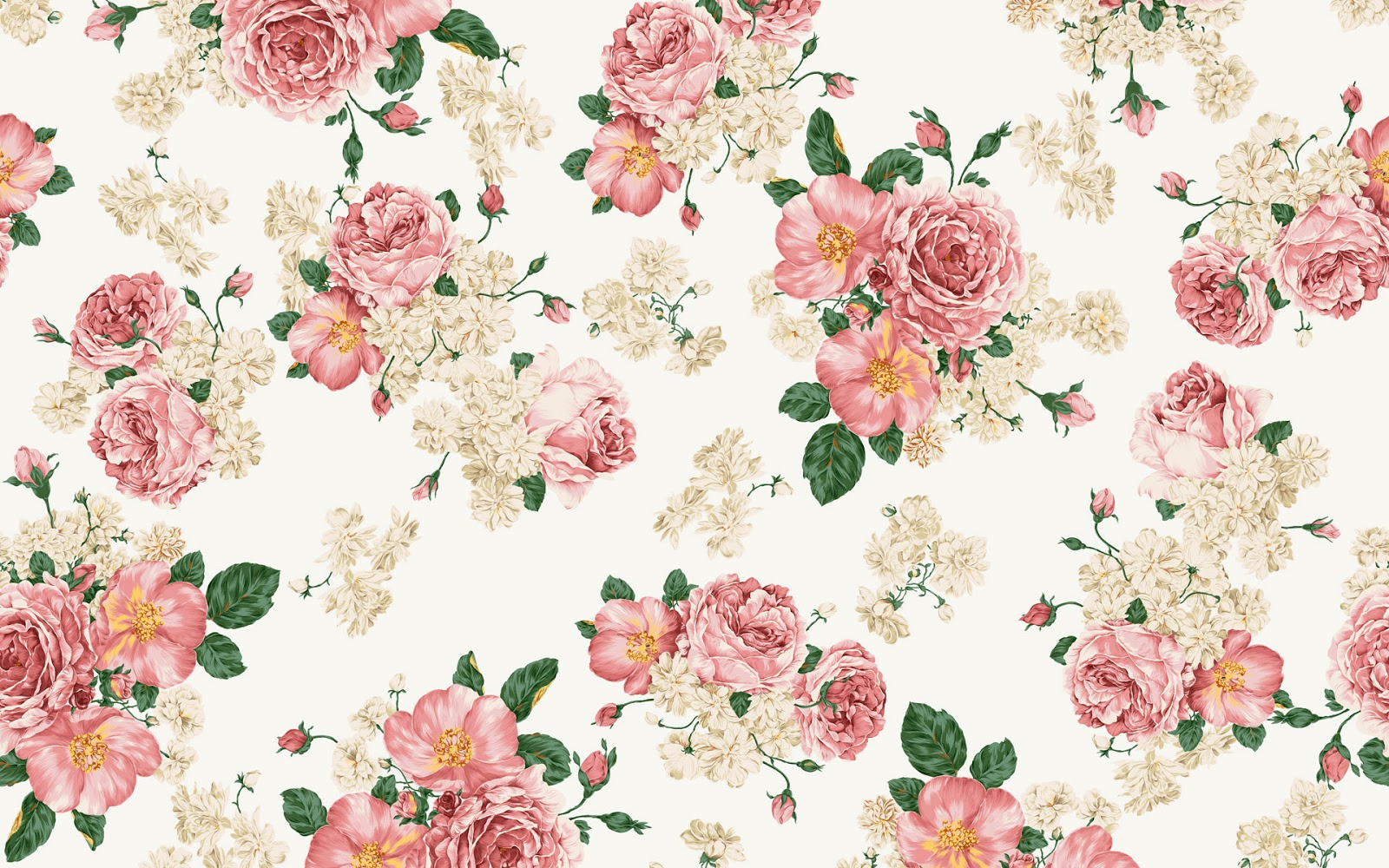 Free Download Vintage Floral Wallpaper Pattern 1600x1000 For