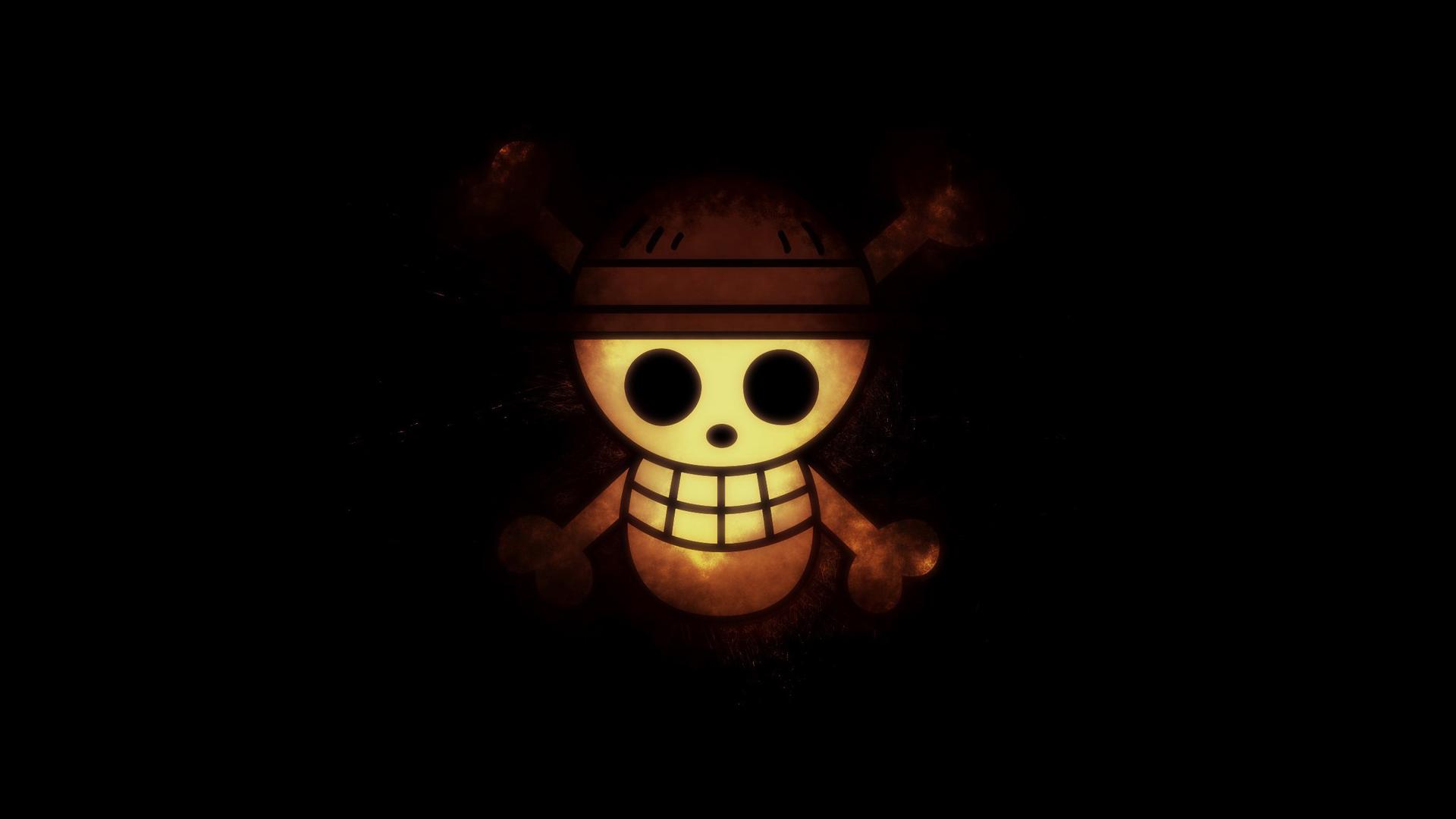mugiwara straw hat pirates flag logo one piece anime hd wallpaper 1920x1080