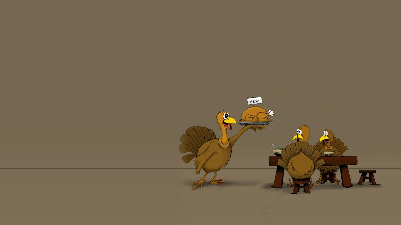 Funny Thanksgiving Desktop Backgrounds 1366x768