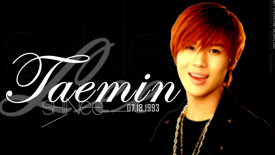 Lee Taemin Wallpaper Black by SherinaHime 900x506