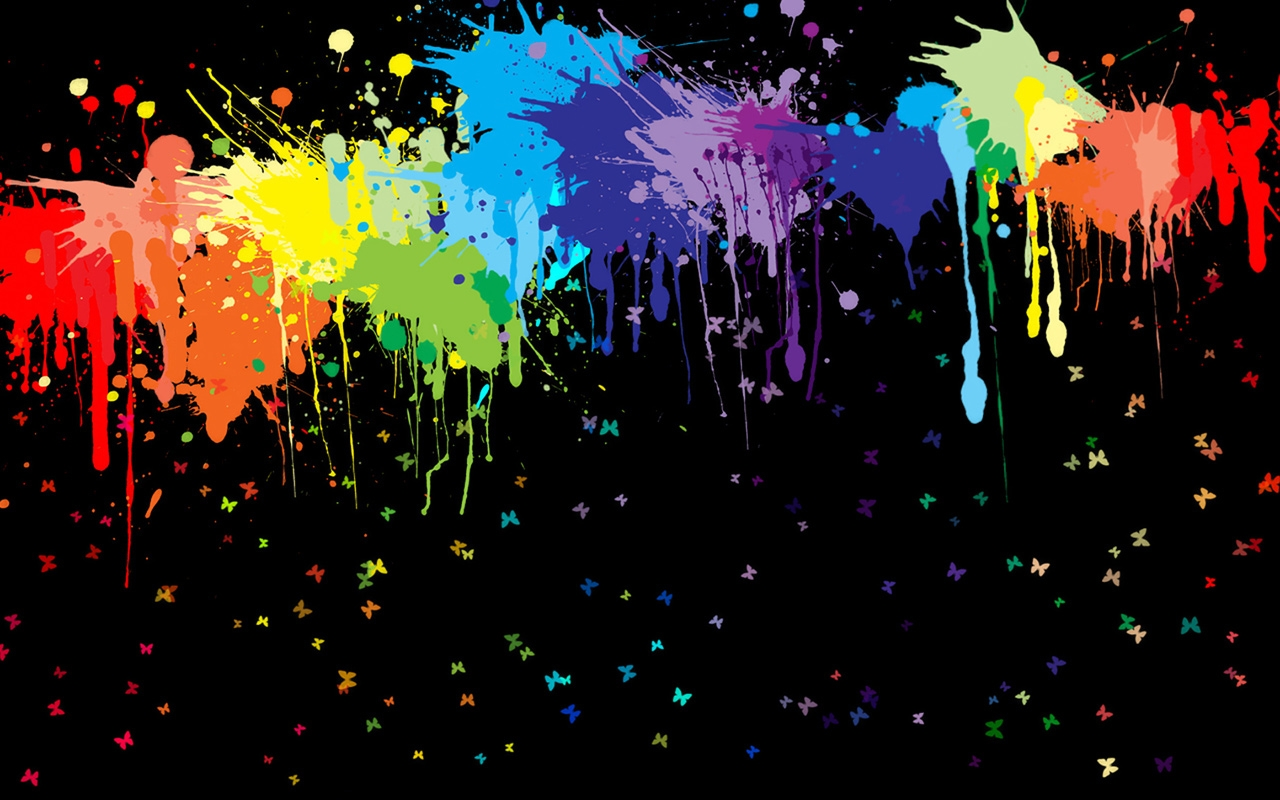 Abstract Paintball Color Desktop Background hd Wallpaper HD 1280x800