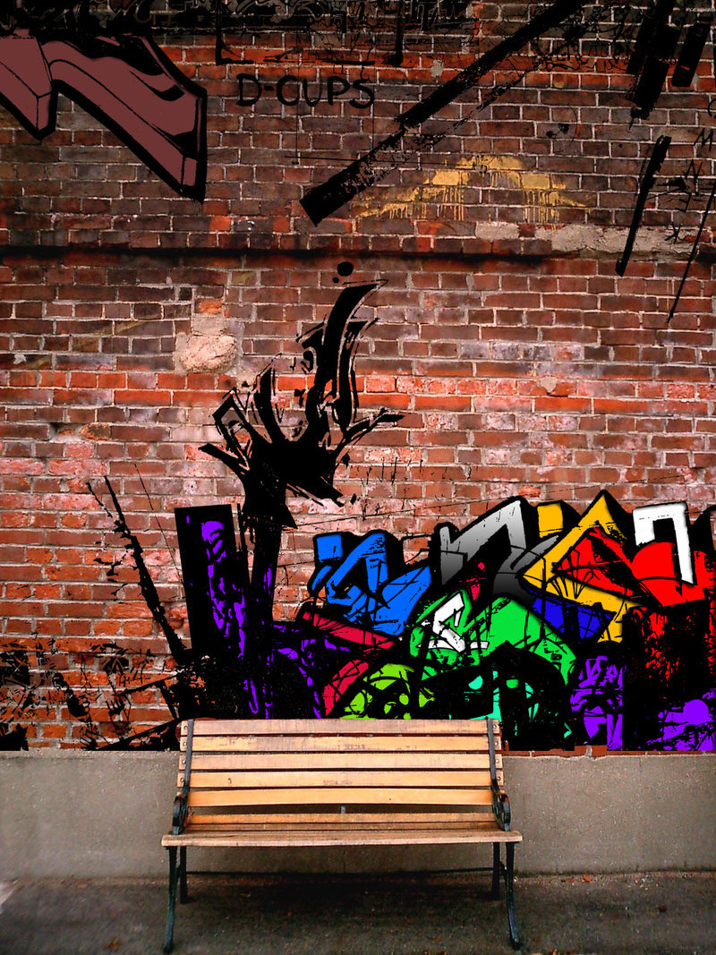 Graffiti on brick wall by Tamile 800x1067
