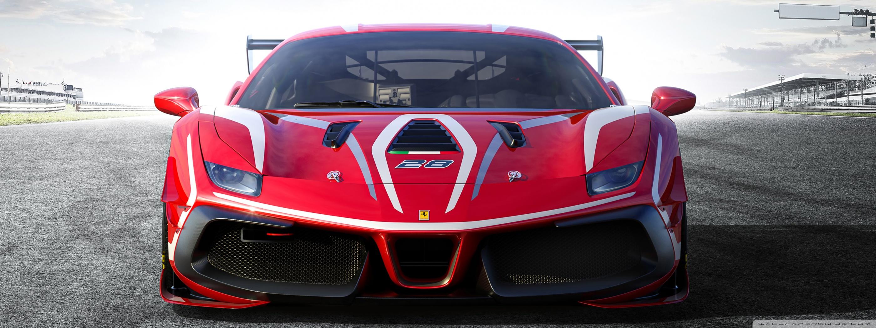 Ferrari 488 Challenge Evo Race Car 2020 Ultra HD Desktop 2800x1050