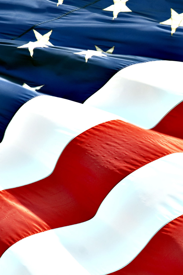 Download United States of America flag iPhone Wallpaper 640x960
