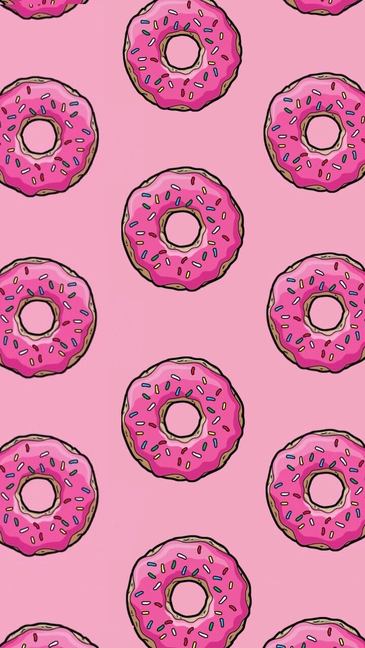 Donut pink wallpaper background   wallpaper background donut 720x1278