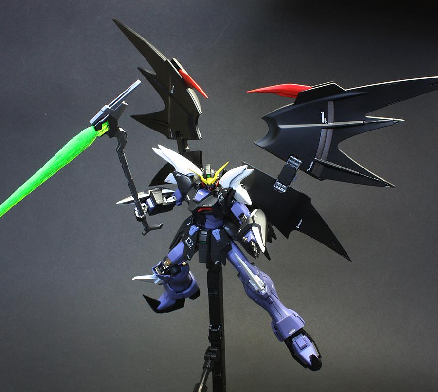 MG 1100 XXXG 01D2 Gundam Deathscythe Hell Latest Work by zgmfxg 900x805