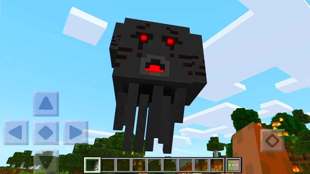 HOW TO FIND A 3 HEADED GHAST IN MINECRAFT POCKET EDITION 1280x720
