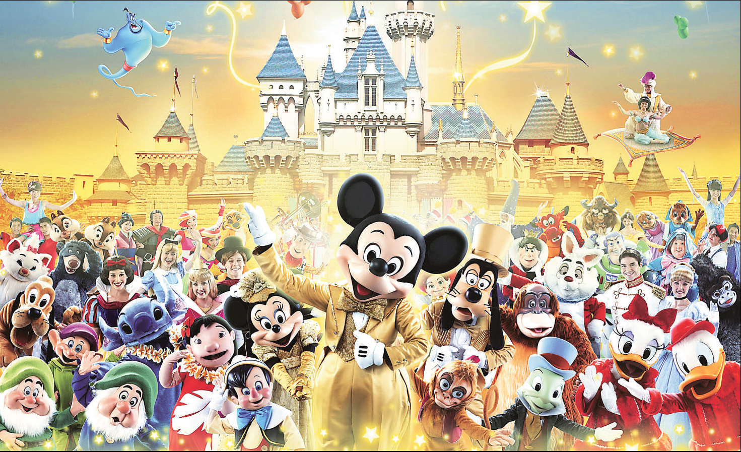 All Disney Characters Wallpaper 1471x897