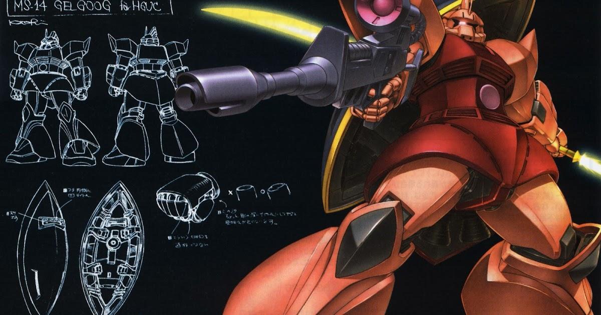 Gundam Walls and LOLS MS 14S Gelgoog HGUC Wallpaper 1200x630