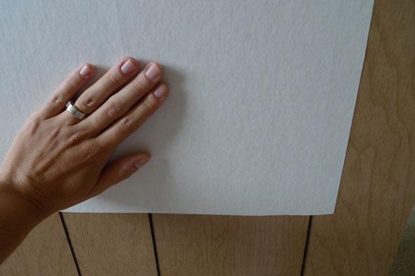 wallpaper over wood paneling Apply wall liner Photo Jaime Derringer 590x393