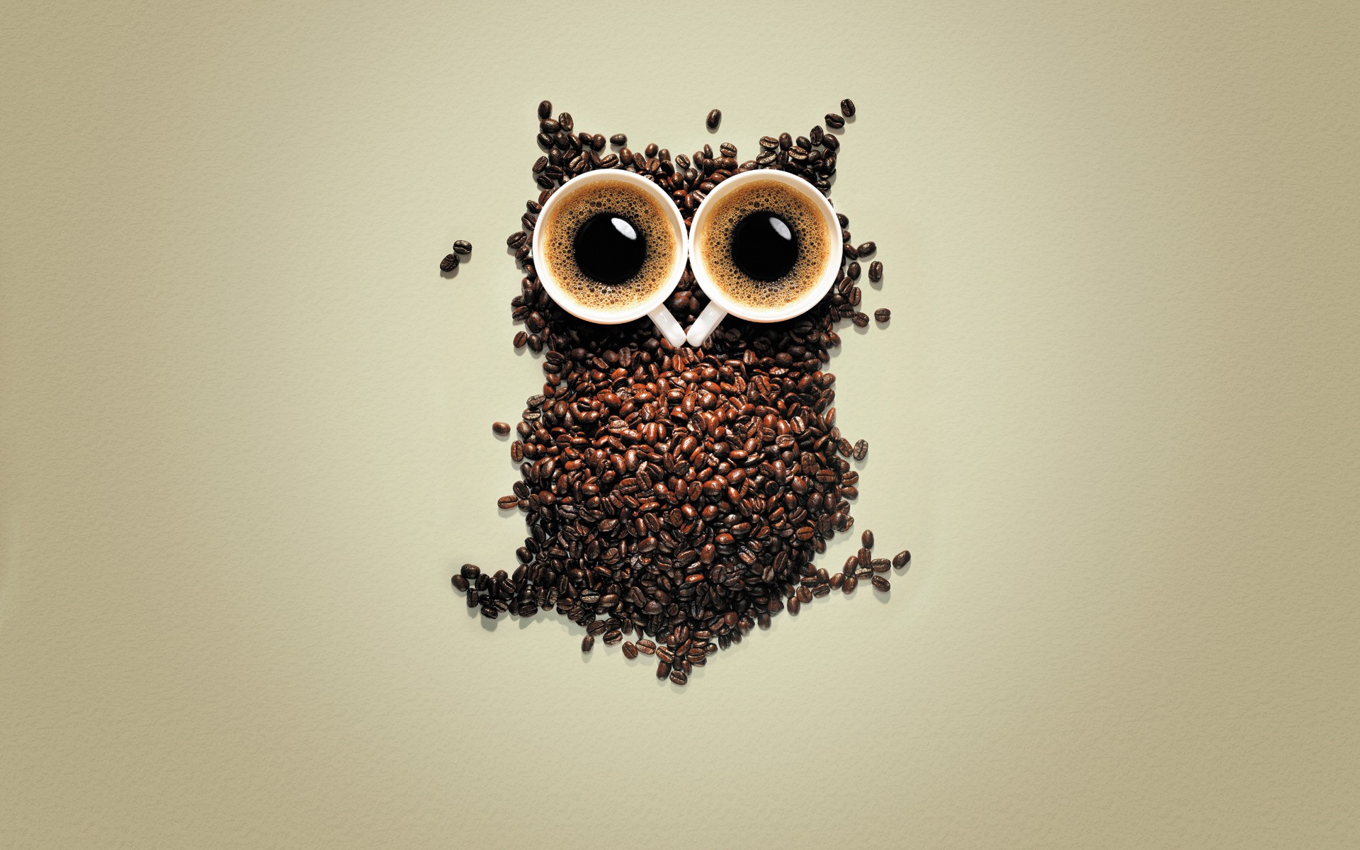 Made From Coffee Cup And Coffee Beans Hd Wallpaper Wallpaper List 1920x1200