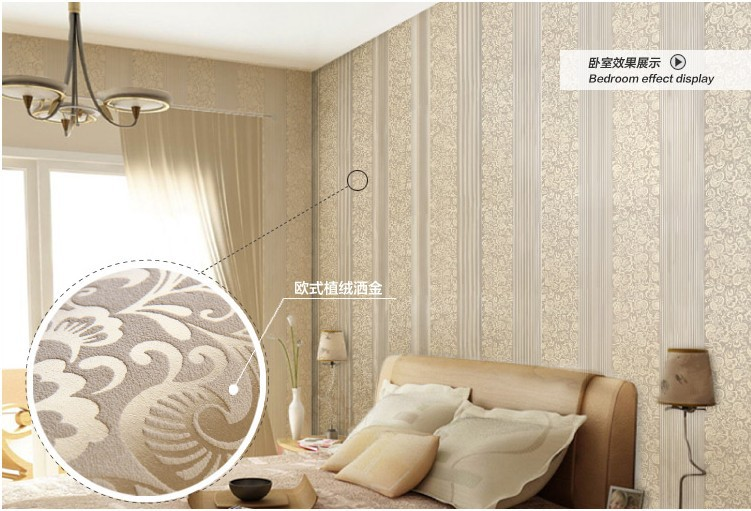 beige damask flocking wallpaper bedroom wallpaper wall covering Quotes 751x511