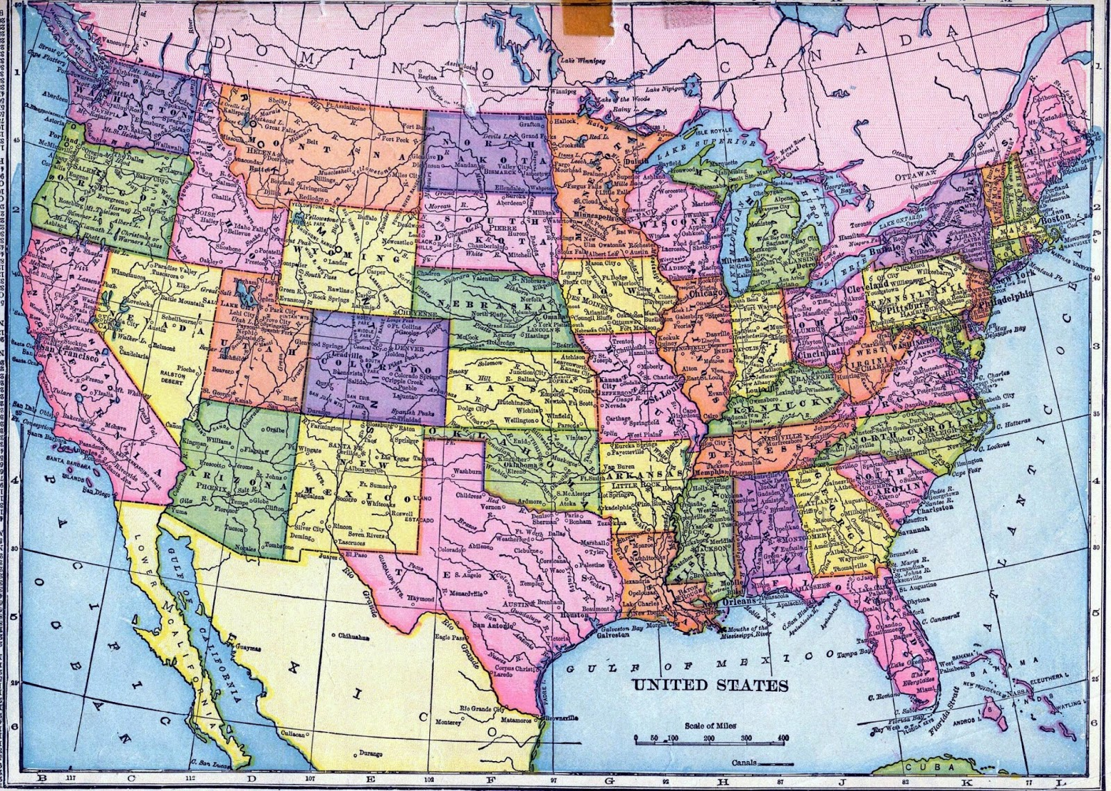 Kgapofem Map Of Usa States With Cities Usa Map States And Cities - Usa road map