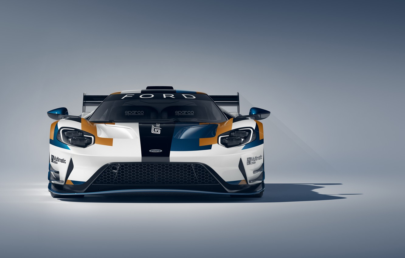 Wallpaper Ford Ford GT front view Mk II 2019 images for 1332x850