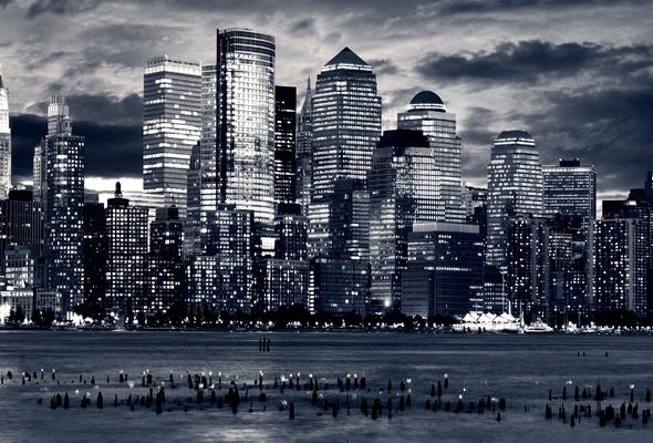 Wallpaper skyscraper night dark city desktop wallpaper World 590x400