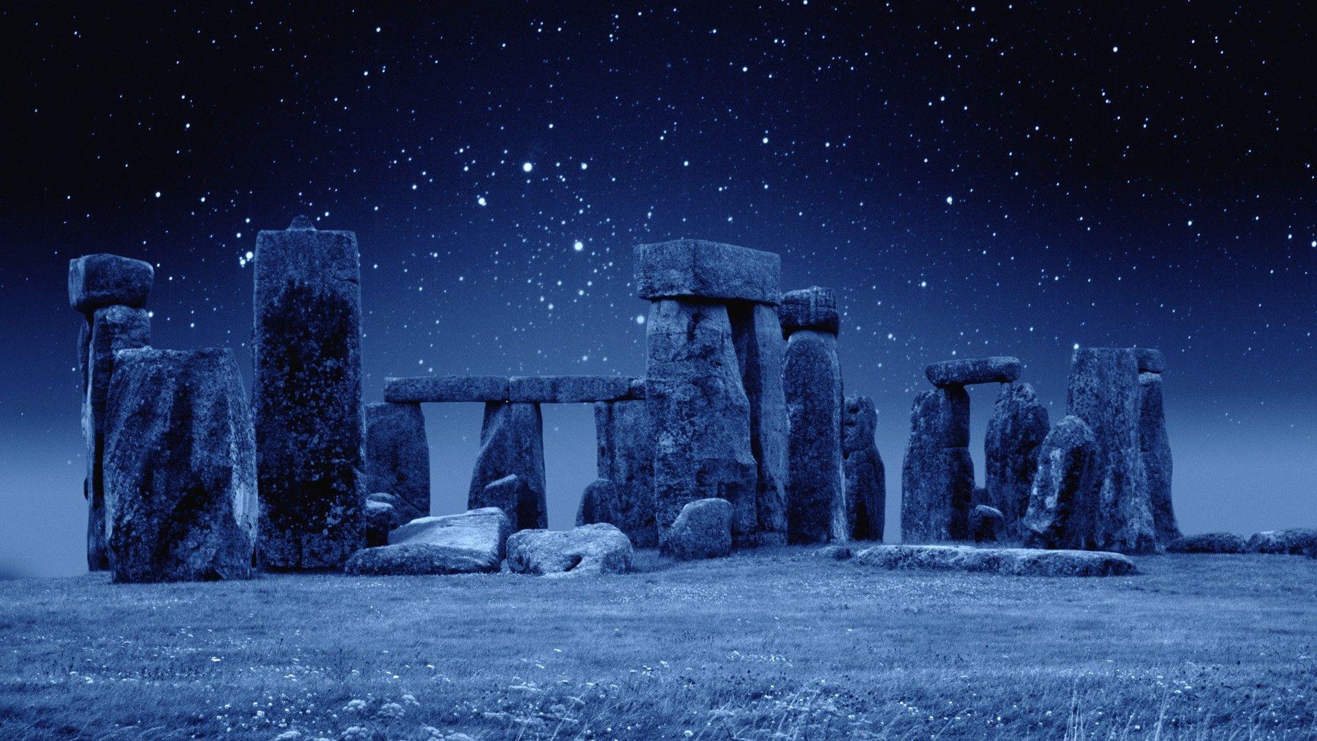 Stonehenge England Stars HD Wallpaper FullHDWpp   Full HD 1920x1080
