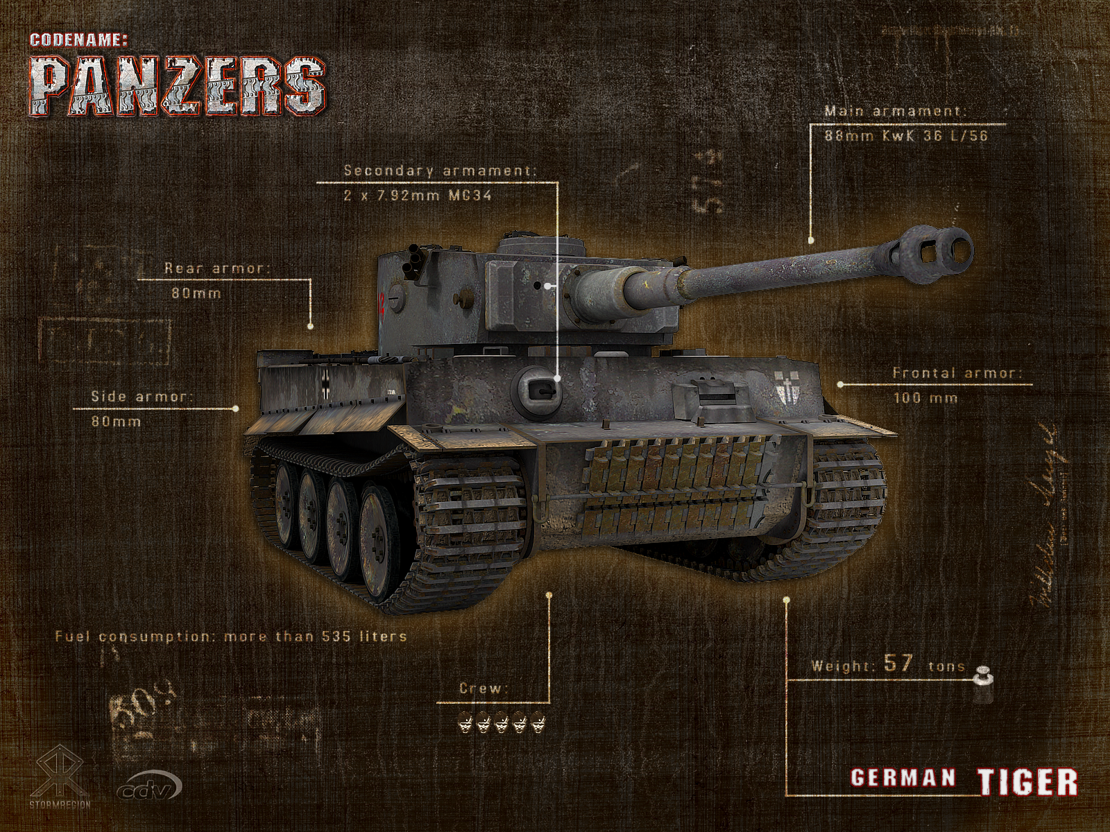 feed Report content Codename Panzers wallpaper Tiger view original 1600x1200