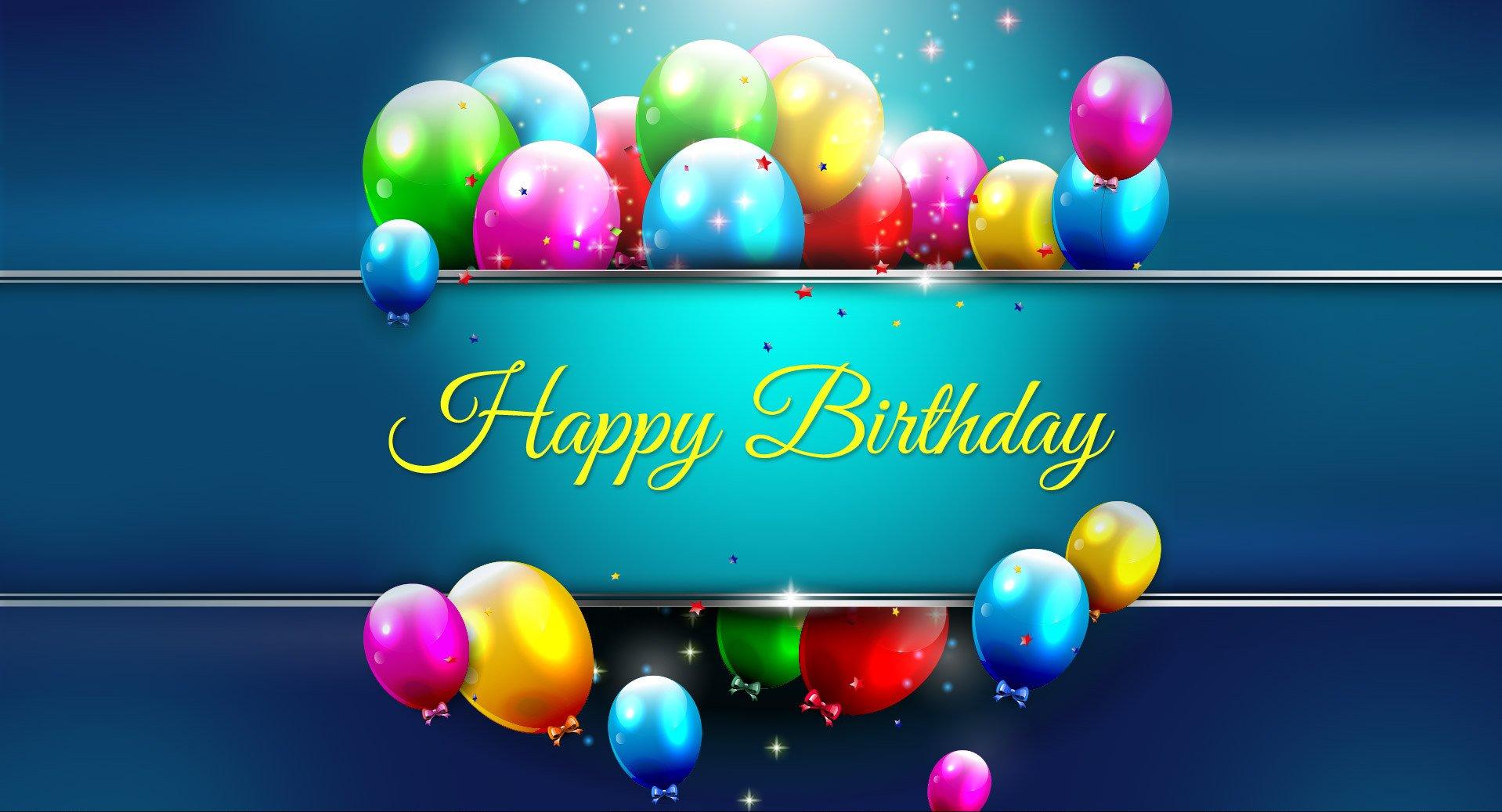 Happy Birthday Balloons HD Wallpaper Clip Art 1918x1037
