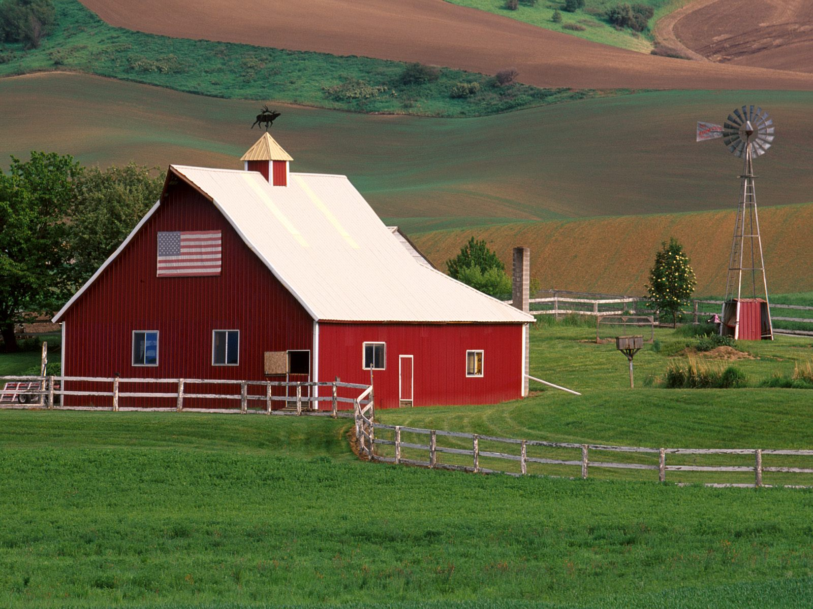 Palouse Farm Country Eastern Washington   Cool Backgrounds 1600x1200