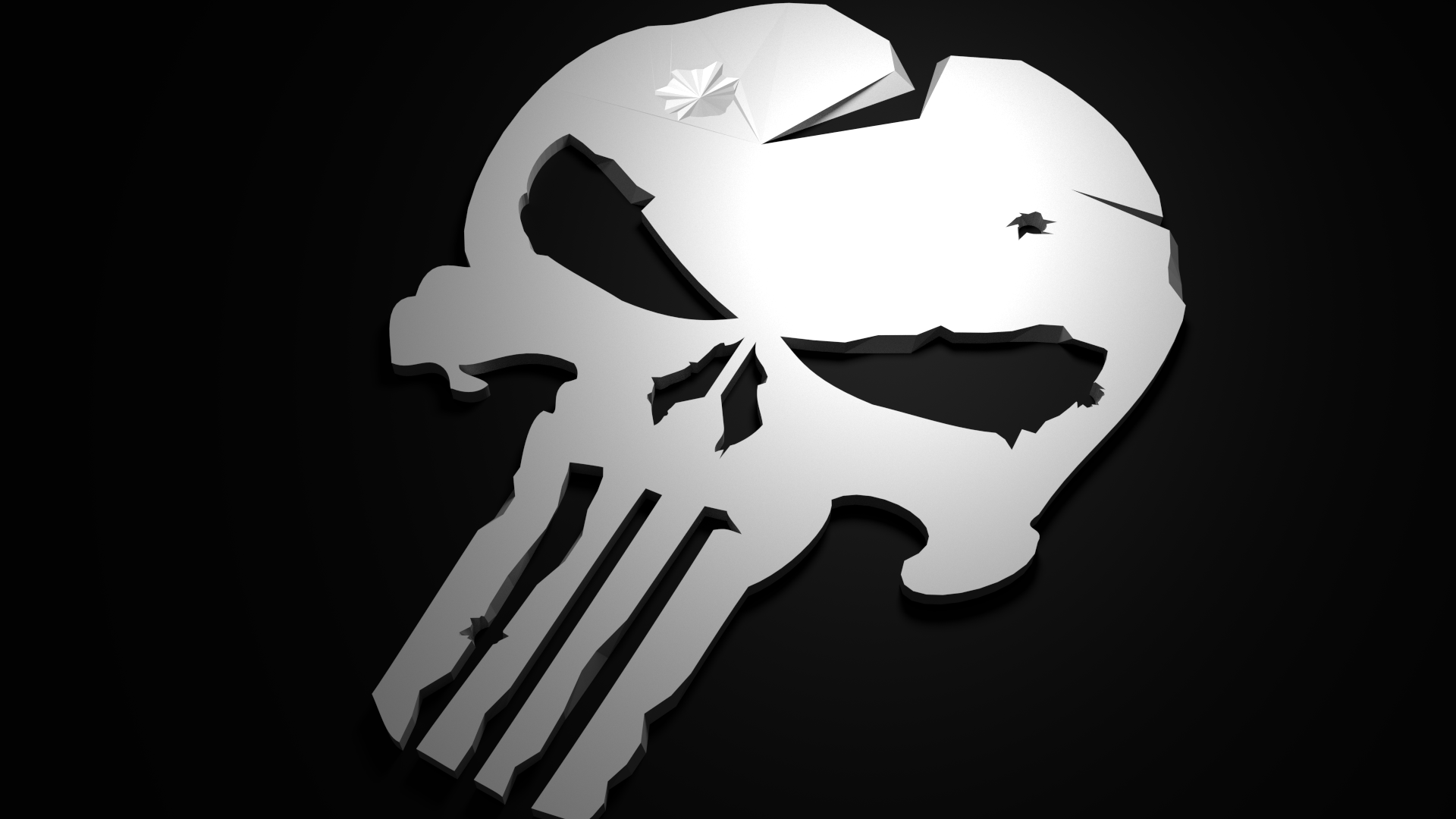 Punisher Logo Low Polly Render : Blend by Kidus333 on ...