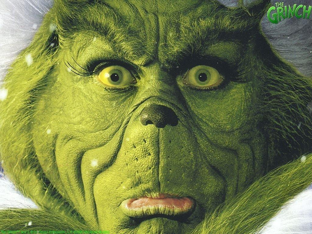 The Grinch Face Christmas Wallpaper   Christmas Cartoon 1024x768